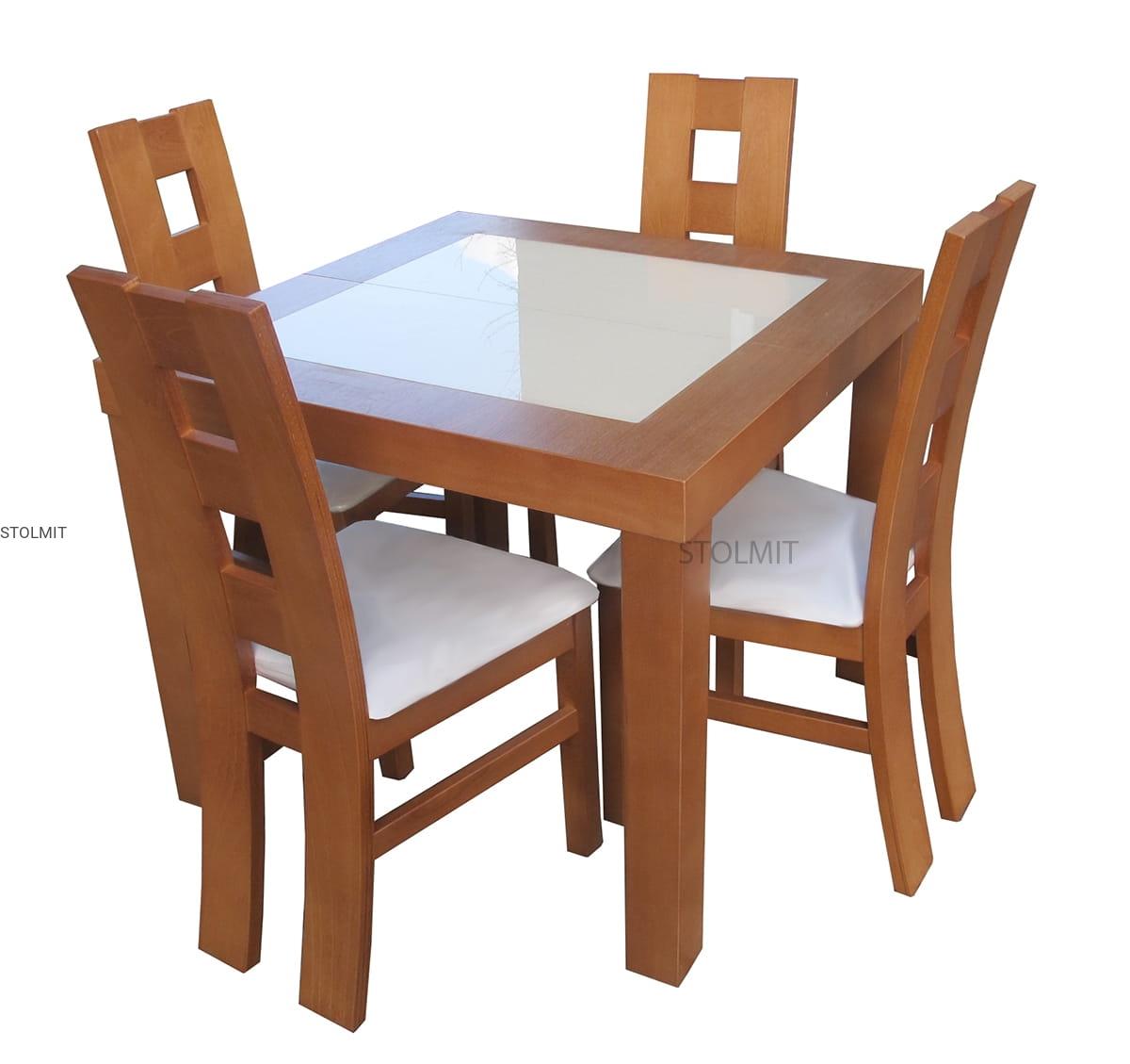 Stół Kwadratowy Rozkładany Masywny Wymiary Stolmitmeble