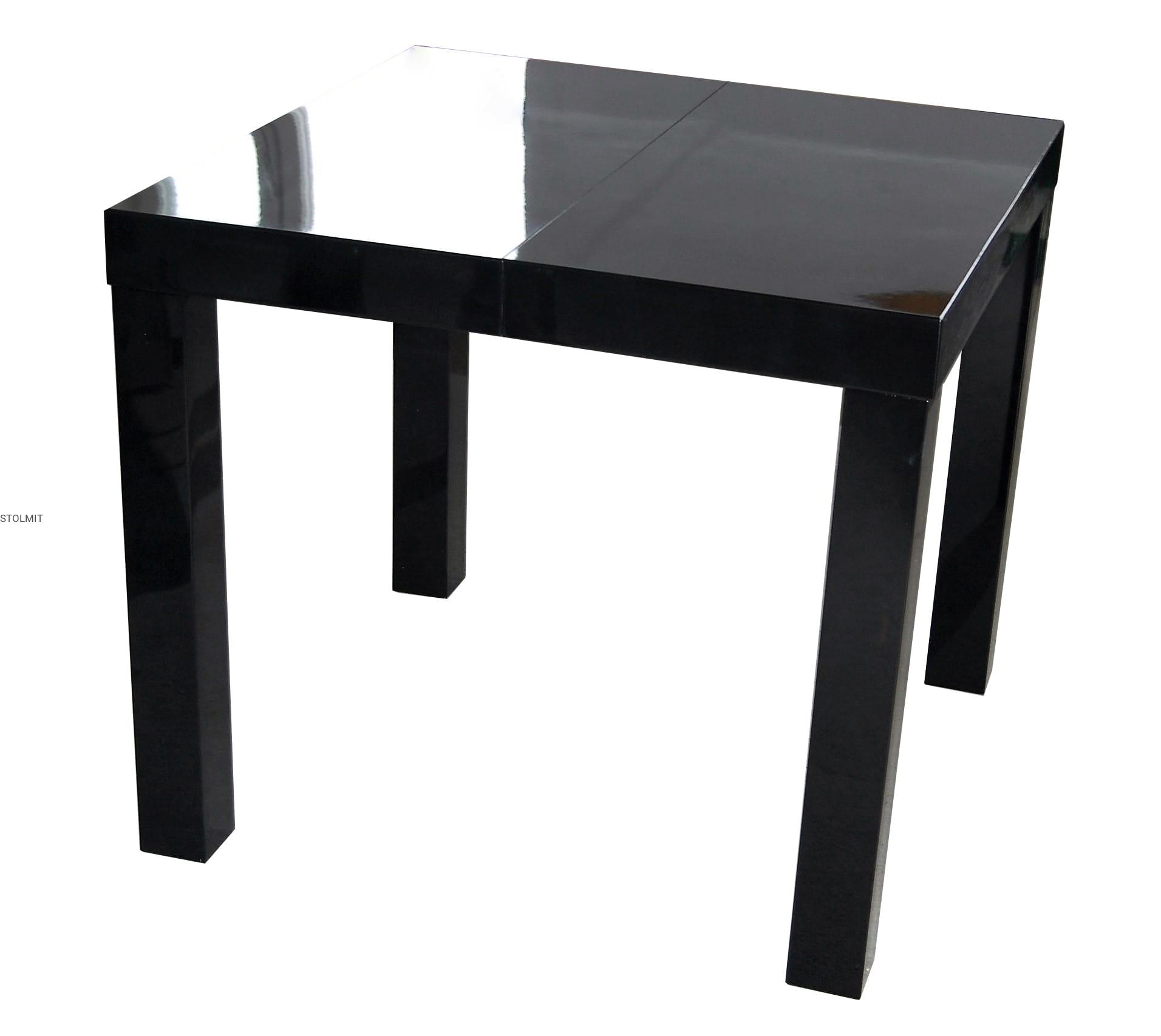 Tylko na zewnątrz Stół kwadratowy czarny połysk rozkładany lub w całości - wymiary YN41
