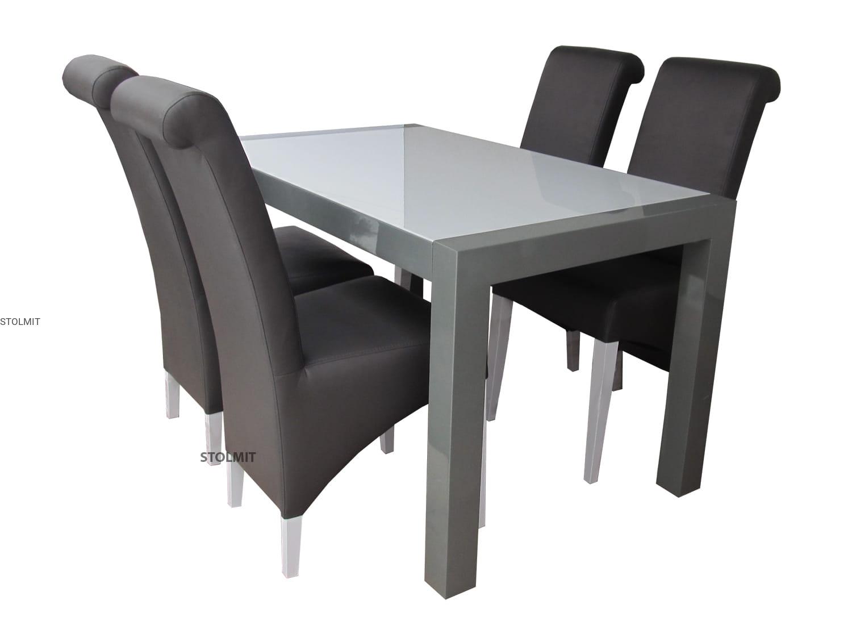 Rozkładany Stół Biały Z Czterema Krzesłami Komin Wymiary Stolmitmeble