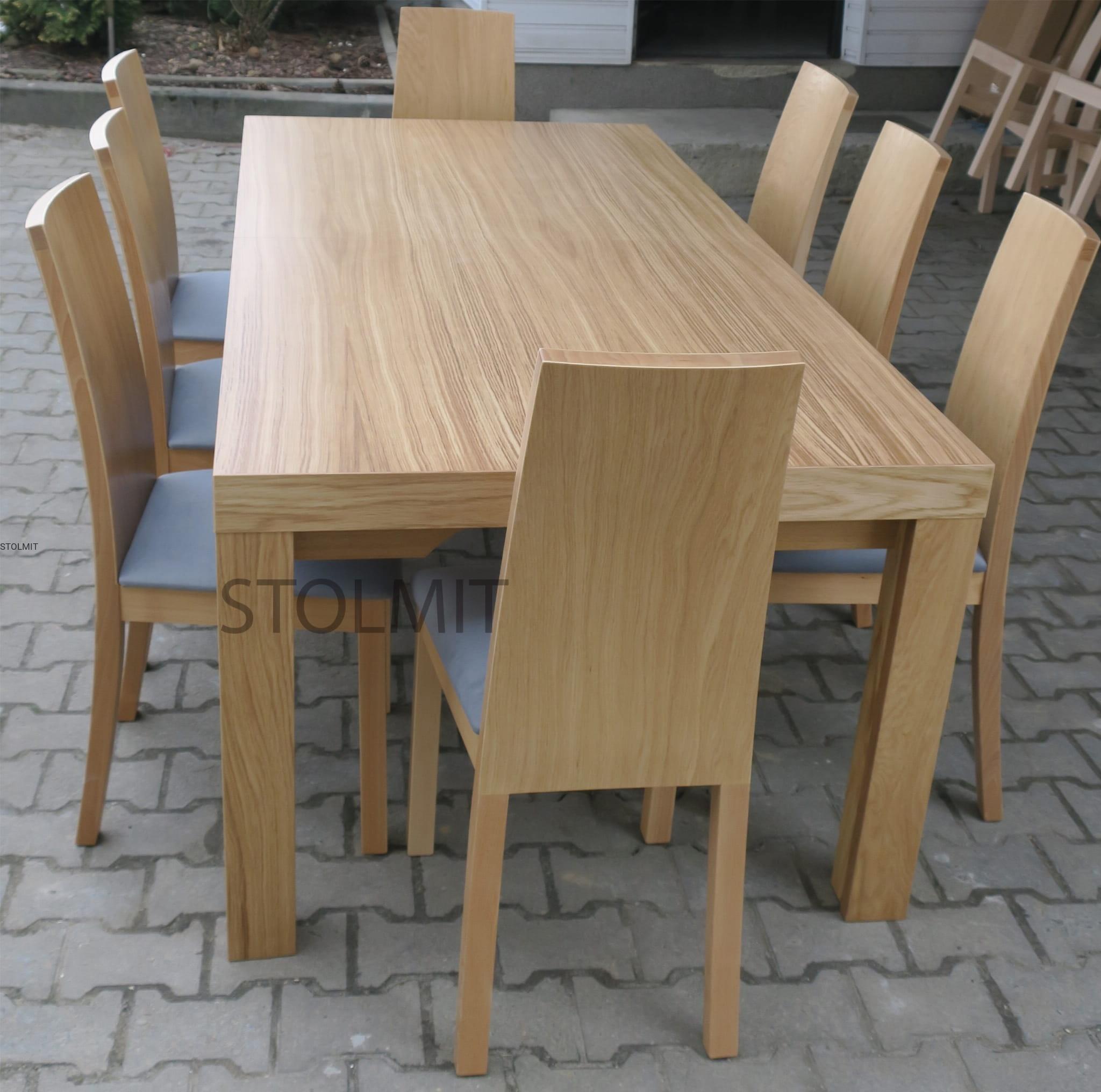 Stół Dębowy Duże Wymiary Typu 8 Nóg Bardzo Solidny I Stabilny