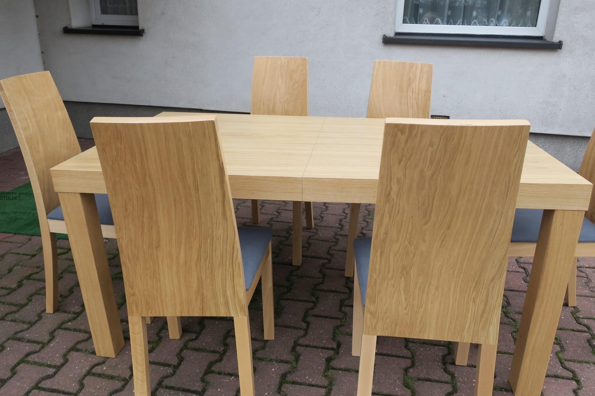 Dębowy Stół Z 6 Krzesłami Milano Popularny Zestaw Nasz Hit Stolmit