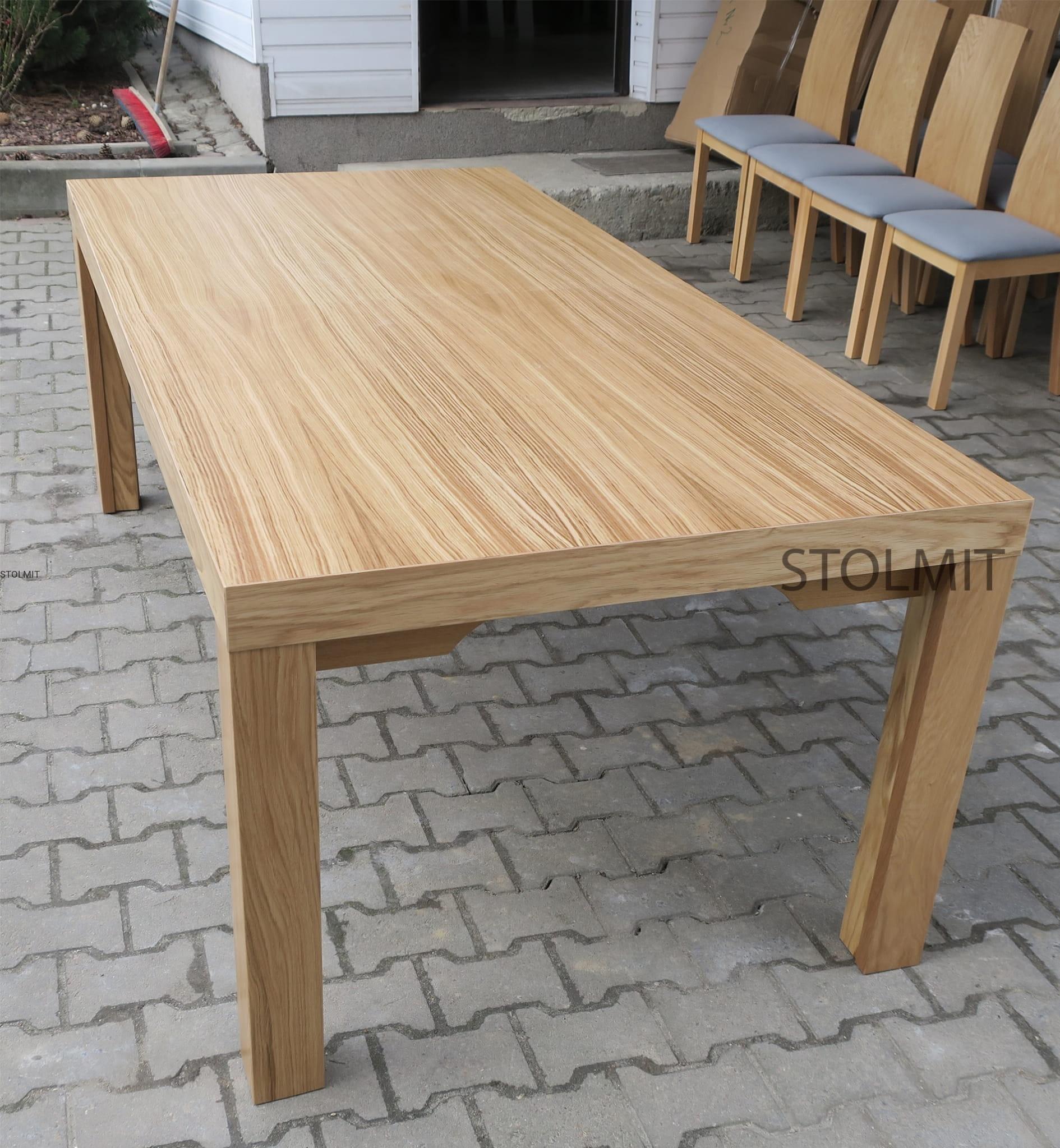 Stół Dębowy 8 Nóg 10 Krzeseł Milano Dąb Duże Wymiary Stolmitmeble