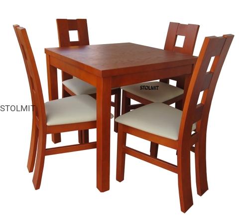Kwadratowy Stół W Całości Lub Rozkładany Z 4 Krzesłami Wymiary