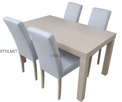 Stół Dębowy Z 4 Krzesłami Komin Popularny Zestaw Stolmitmeble