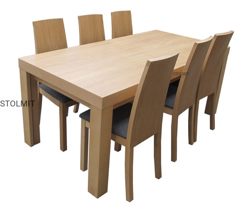 Stół Duże Wymiary 6 Eleganckich Krzeseł Wymiary